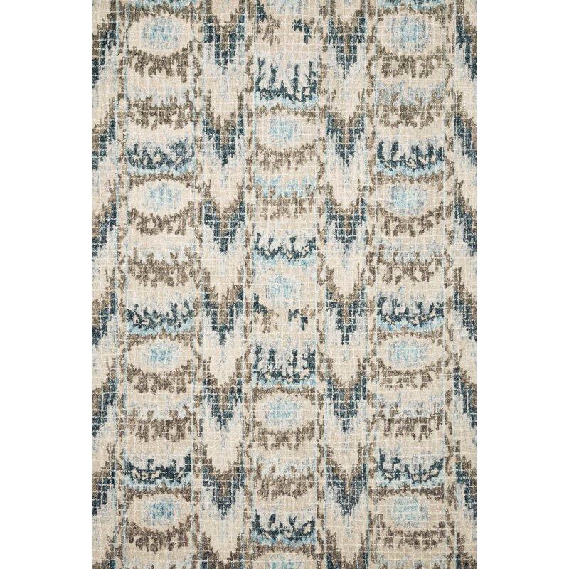 """Loloi Tatum TW-06 1' 6"""" x 1' 6"""" Square Rug in Blue and Turquoise (TATUTW-06BBTQ160S)"""