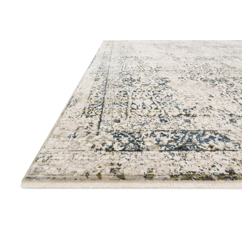 """Loloi Theia THE-01 Traditional Power Loomed 2' x 3' 7"""" Rectangle Rug in Natural and Ocean (THEITHE-01NAOC2037)"""