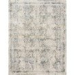 """Loloi Theia THE-01 Traditional Power Loomed 3' 7"""" x 5' 2"""" Rectangle Rug in Natural and Ocean (THEITHE-01NAOC3752)"""