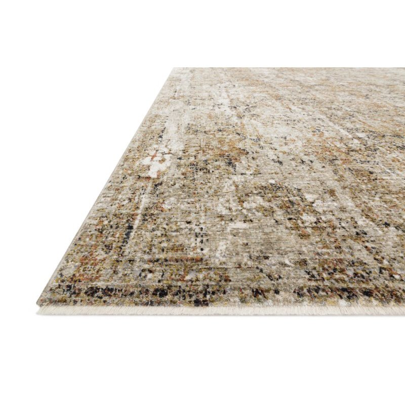 """Loloi Theia THE-02 Traditional Power Loomed 3' 7"""" x 5' 2"""" Rectangle Rug in Taupe and Gold (THEITHE-02TAGO3752)"""