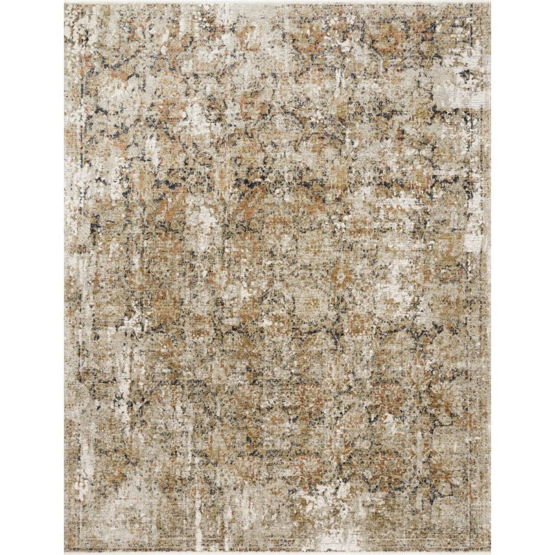 """Loloi Theia THE-02 Traditional Power Loomed 7' 10"""" x 10' Rectangle Rug in Taupe and Gold (THEITHE-02TAGO7AA0)"""