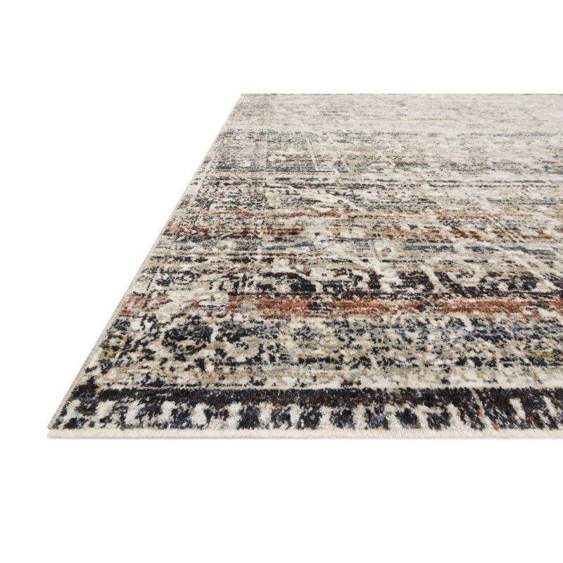 """Loloi Theia THE-03 Traditional Power Loomed 7' 10"""" Round Rug in Taupe and Multi (THEITHE-03TAML7A0R)"""