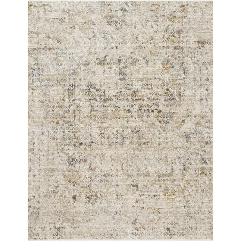 """Loloi Theia THE-04 Traditional Power Loomed 1' 6"""" x 1' 6"""" Sample Swatch Rug in Multi and Natural (THEITHE-04MLNA160S)"""