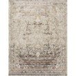 """Loloi Theia THE-05 Traditional Power Loomed 1' 6"""" x 1' 6"""" Sample Swatch Rug in Taupe and Brick (THEITHE-05TABK160S)"""