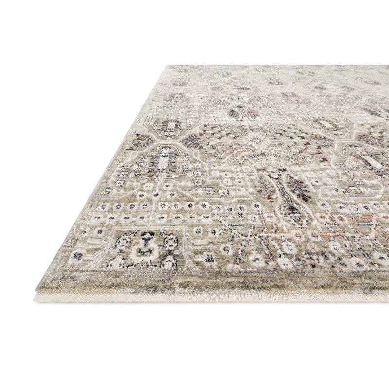 "Loloi Theia THE-06 Traditional Power Loomed 9' 5"" x 12' 10"" Rectangle Rug in Granite and Ivory (THEITHE-06GNIV95CA)"