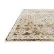 """Loloi Theia THE-07 Traditional Power Loomed 1' 6"""" x 1' 6"""" Sample Swatch Rug in Natural and Rust (THEITHE-07NARU160S)"""