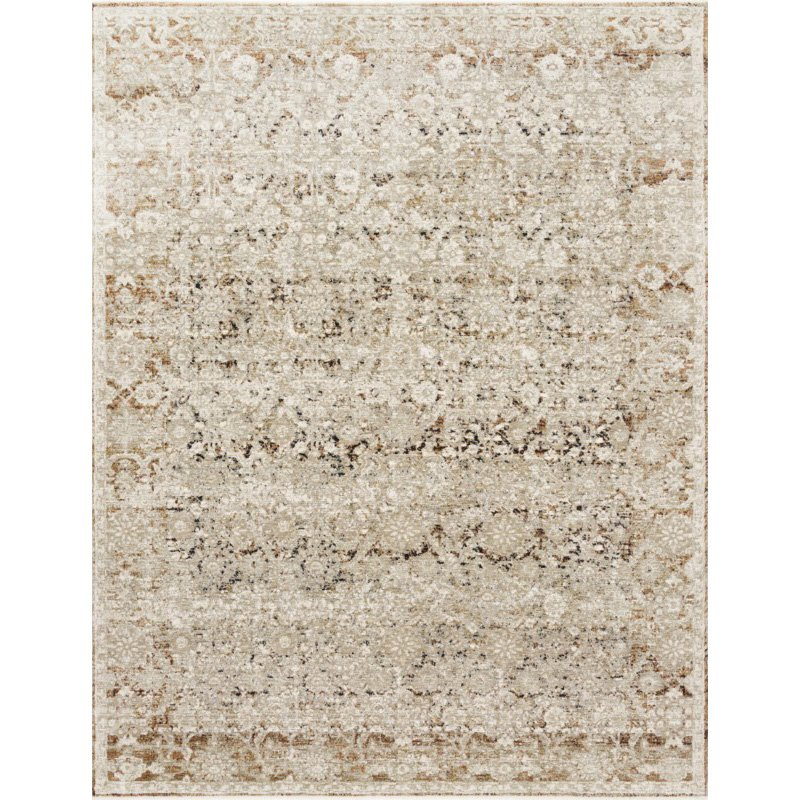 """Loloi Theia THE-07 Traditional Power Loomed 2' x 3' 7"""" Rectangle Rug in Natural and Rust (THEITHE-07NARU2037)"""