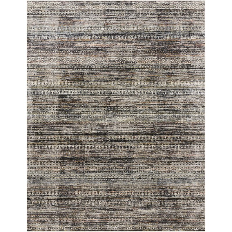 """Loloi Theia THE-08 Traditional Power Loomed 3' 7"""" x 5' 2"""" Rectangle Rug in Grey and Multi (THEITHE-08GYML3752)"""
