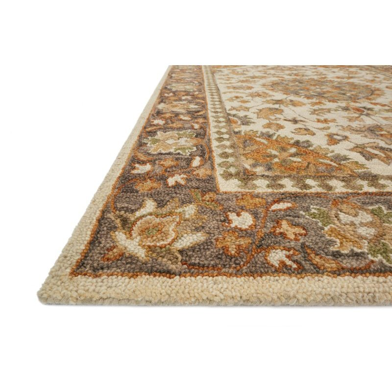 "Loloi Victoria VK-11 2' 3"" x 3' 9"" Rectangle Rug in Ivory and Charcoal (VITRVK-11IVCC2339)"