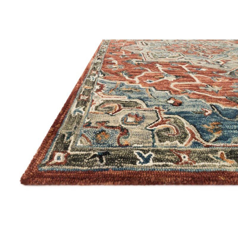 """Loloi Victoria VK-15 Traditional 5' x 7' 6"""" Rectangle Rug in Red and Multi (VITRVK-15REML5076)"""