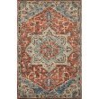 "Loloi Victoria VK-15 Traditional 7' 9"" x 9' 9"" Rectangle Rug in Red and Multi (VITRVK-15REML7999)"