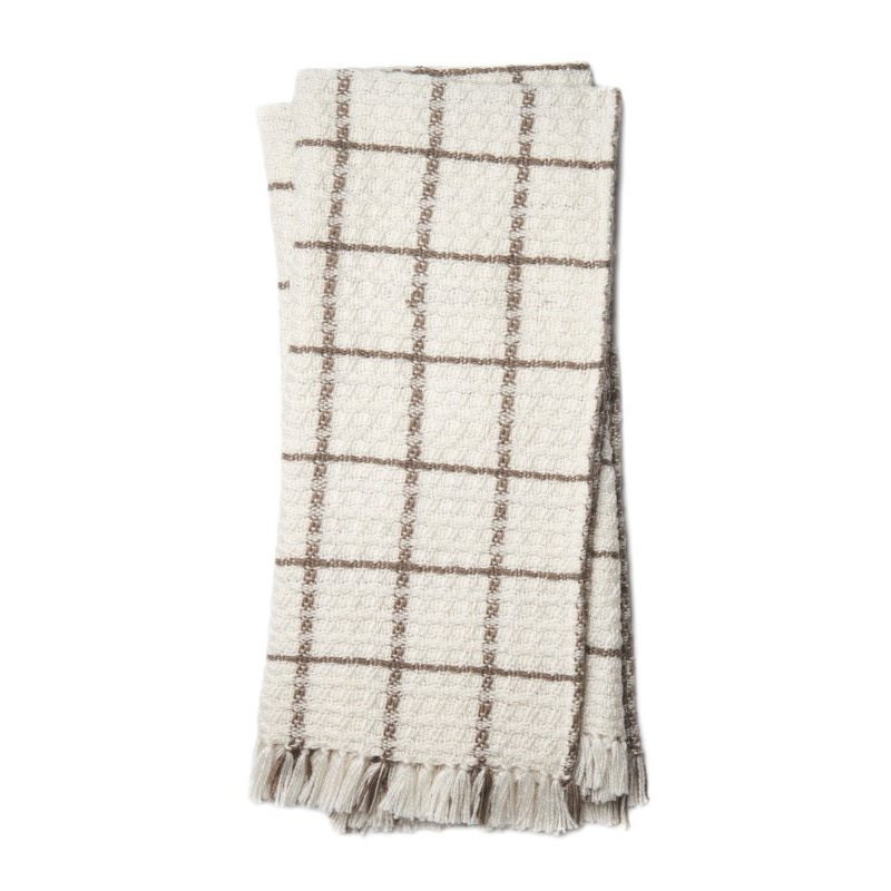 """Loloi Wren T0036 Throw 4' 2"""" x 5' Rectangle in Ivory and Taupe (WRENT0036IVTATH01)"""