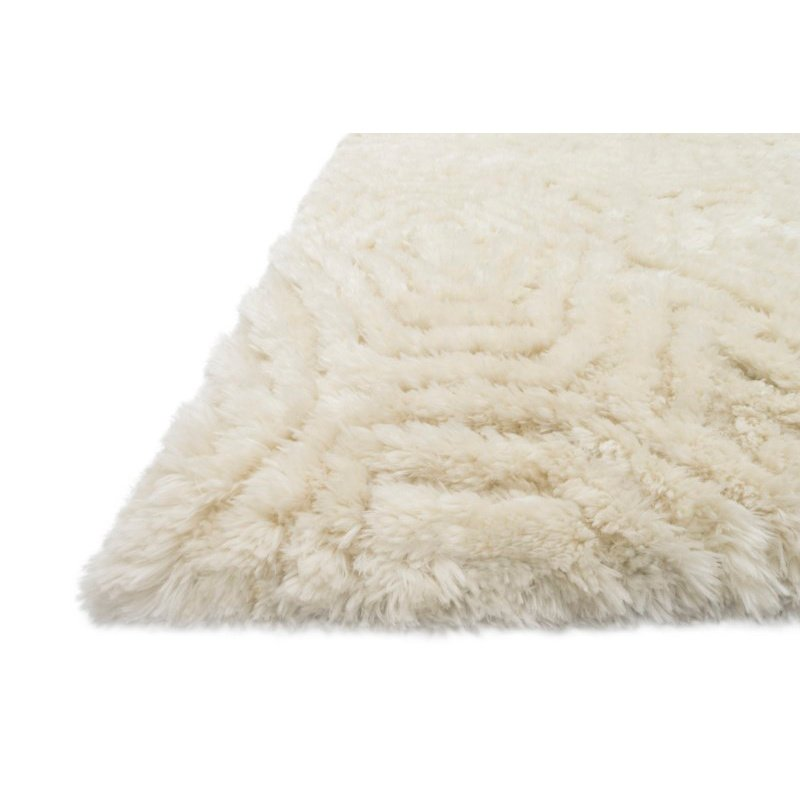 """Loloi x Justina Blakeney Collection CAP-01 Caspia Shags 5' x 7' 6"""" Rectangle Rug in Ivory (CAPPCAP-01IV005076)"""