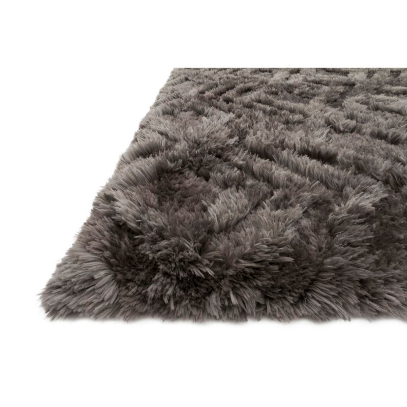 "Loloi x Justina Blakeney Collection CAP-03 Caspia Shags 9' 3"" x 13' Rectangle Rug in Charcoal (CAPPCAP-03CC0093D0)"