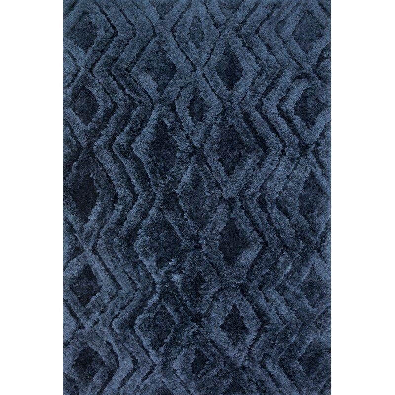 "Loloi x Justina Blakeney Collection CAP-03 Caspia Shags 9' 3"" x 13' Rectangle Rug in Indigo (CAPPCAP-03IN0093D0)"
