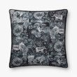 "Loloi x Justina Blakeney Collection P0781 Pillow 22"" x 22"" Cover Only in Charcoal (P202P0781CC00PIL3)"