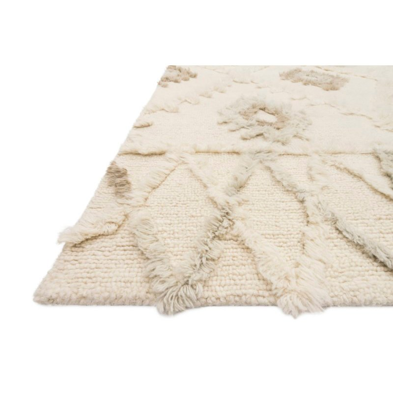 """Loloi x Justina Blakeney Collection SYM-01 Symbology Contemporary 7' 9"""" x 9' 9"""" Rectangle Rug in Ivory and Slate (SYMBSYM-01IVSL7999)"""