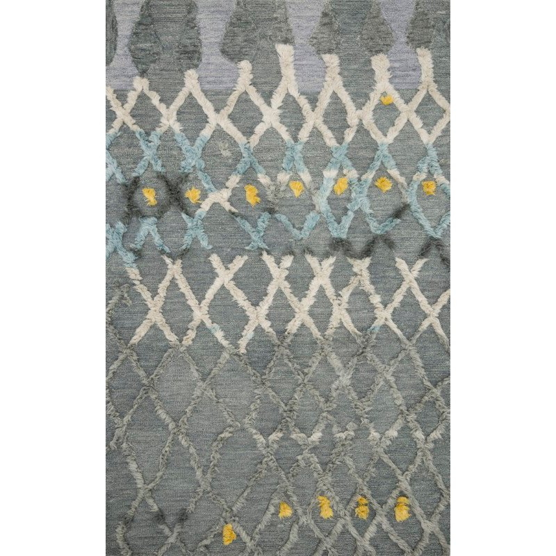 """Loloi x Justina Blakeney Collection SYM-03 Symbology Contemporary 5' x 7' 6"""" Rectangle Rug in Grey and Multi (SYMBSYM-03GYML5076)"""