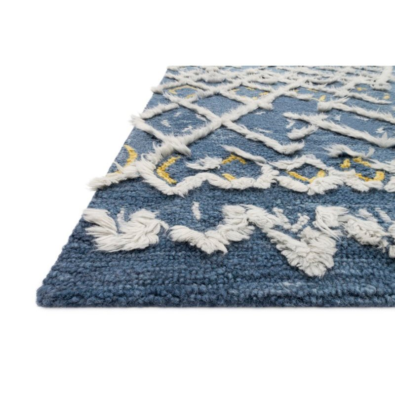 "Loloi x Justina Blakeney Collection SYM-04 Symbology Contemporary 5' x 7' 6"" Rectangle Rug in Denim and Dove (SYMBSYM-04DEDV5076)"