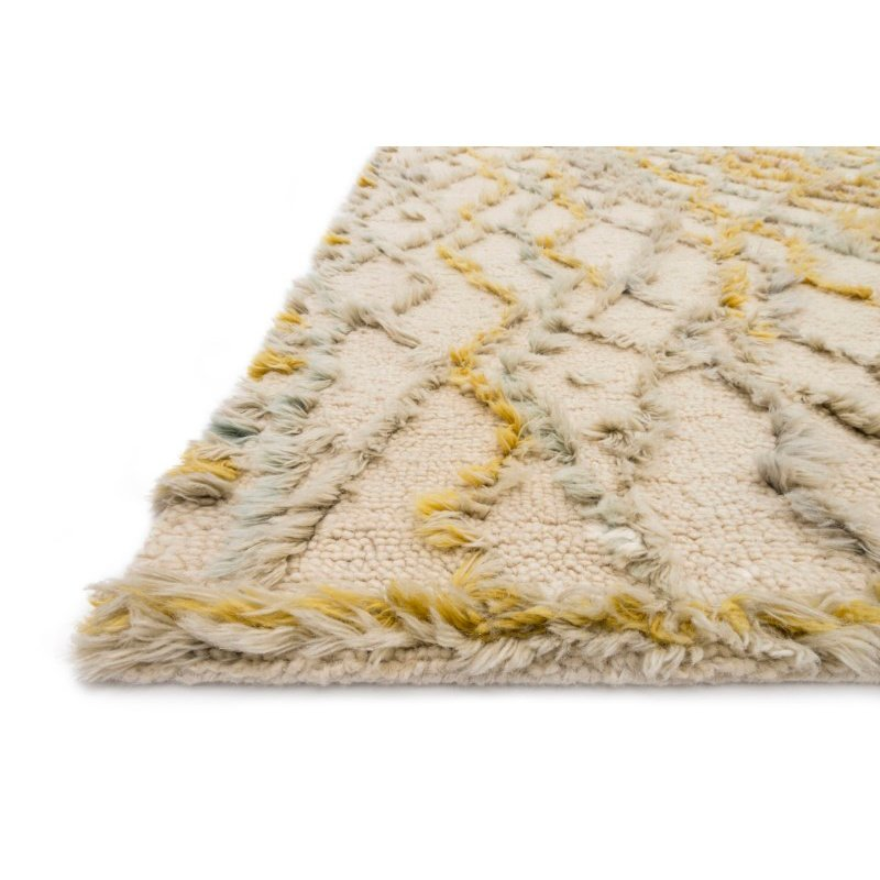 """Loloi x Justina Blakeney Collection SYM-05 Symbology Contemporary 3' 6"""" x 5' 6"""" Rectangle Rug in Ivory and Multi (SYMBSYM-05IVML3656)"""