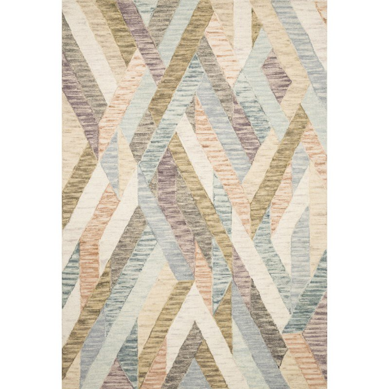 "Loloi x Justina Blakeney Hallu HAL-03 Contemporary Hooked 2' 3"" x 3' 9"" Rectangle Rug in Sunrise and Mist (HALUHAL-03SRMI2339)"