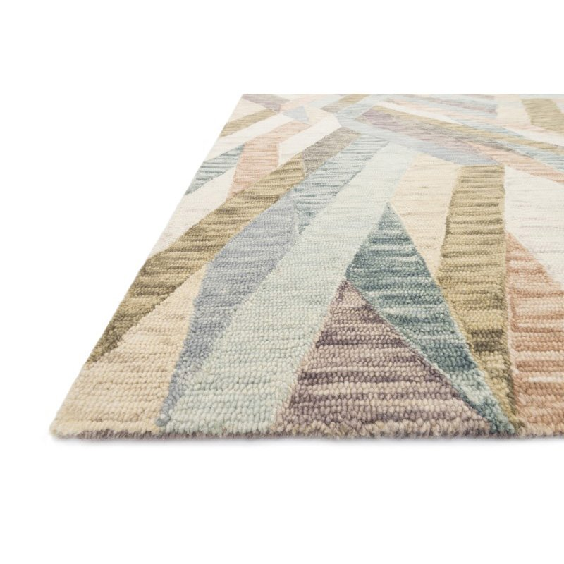 "Loloi x Justina Blakeney Hallu HAL-03 Contemporary Hooked 3' 6"" x 5' 6"" Rectangle Rug in Sunrise and Mist (HALUHAL-03SRMI3656)"