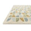 "Loloi x Justina Blakeney Hallu HAL-04 Contemporary Hooked 9' 3"" x 13' Rectangle Rug in Ivory and Sky (HALUHAL-04IVSC93D0)"