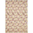 "Loloi x Justina Blakeney Hallu HAL-05 Contemporary Hooked 2' 6"" x 7' 6"" Runner Rug in Ivory and Sunset (HALUHAL-05IVSS2676)"