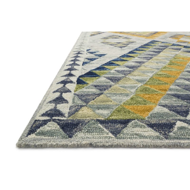 """Loloi x Justina Blakeney Hallu HAL-07 Contemporary Hooked 3' 6"""" x 5' 6"""" Rectangle Rug in Spa and Gold (HALUHAL-07SPAGO3656)"""
