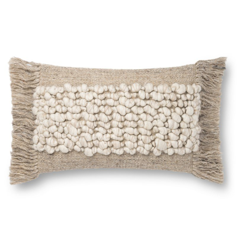 """Loloi x Justina Blakeney P0805 Pillow 13"""" x 21"""" Cover Only in Sand (P154P0805SA00PIL5)"""