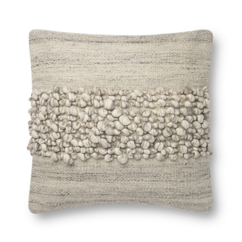 """Loloi x Justina Blakeney P0805 Pillow 22"""" x 22"""" Cover Only in Smoke (P154P0805SK00PIL3)"""