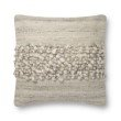 """Loloi x Justina Blakeney P0805 Pillow 22"""" x 22"""" Cover with Down in Smoke (DSETP0805SK00PIL3)"""