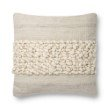 """Loloi x Justina Blakeney P0805 Pillow 22"""" x 22"""" Cover with Poly in Ivory and Grey (PSETP0805IVGYPIL3)"""