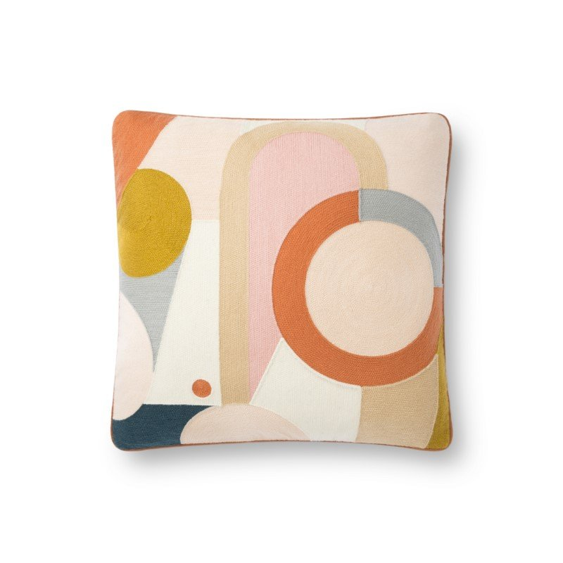 """Loloi x Justina Blakeney P0835 18"""" x 18"""" Square Pillow Cover Only in Multi (P143P0835ML00PIL1)"""