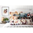 """Loloi x Justina Blakeney P0836 18"""" x 18"""" Square Pillow Cover with Poly in Multi (PSETP0836ML00PIL1)"""