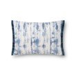 """Loloi x Justina Blakeney P0844 13"""" x 21"""" Rectangle Pillow Cover with Down in Blue (DSETP0844BB00PIL5)"""