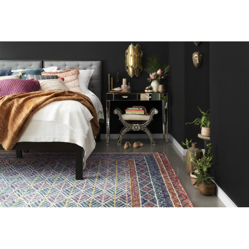 Loloi x Justina Blakeney Priti PRT-01 Contemporary Hooked 5' Round Rug in Teal and Fiesta (PRITPRT-01TEFD500R)