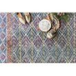 """Loloi x Justina Blakeney Priti PRT-01 Contemporary Hooked 7' 9"""" x 9' 9"""" Rectangle Rug in Teal and Fiesta (PRITPRT-01TEFD7999)"""