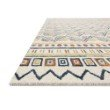 "Loloi x Justina Blakeney Priti PRT-03 Contemporary Hooked 3' 6"" x 5' 6"" Rectangle Rug in Ivory and Multi (PRITPRT-03IVML3656)"