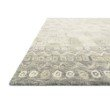 """Loloi x Justina Blakeney Priti PRT-04 Contemporary Hooked 2' 3"""" x 3' 9"""" Rectangle Rug in Pewter and Natural (PRITPRT-04PWNA2339)"""