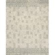 """Loloi x Justina Blakeney Priti PRT-04 Contemporary Hooked 3' 6"""" x 5' 6"""" Rectangle Rug in Pewter and Natural (PRITPRT-04PWNA3656)"""