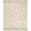 "Loloi x Justina Blakeney Priti PRT-05 Contemporary Hooked 3' 6"" x 5' 6"" Rectangle Rug in Mist and Gold (PRITPRT-05MIGO3656)"