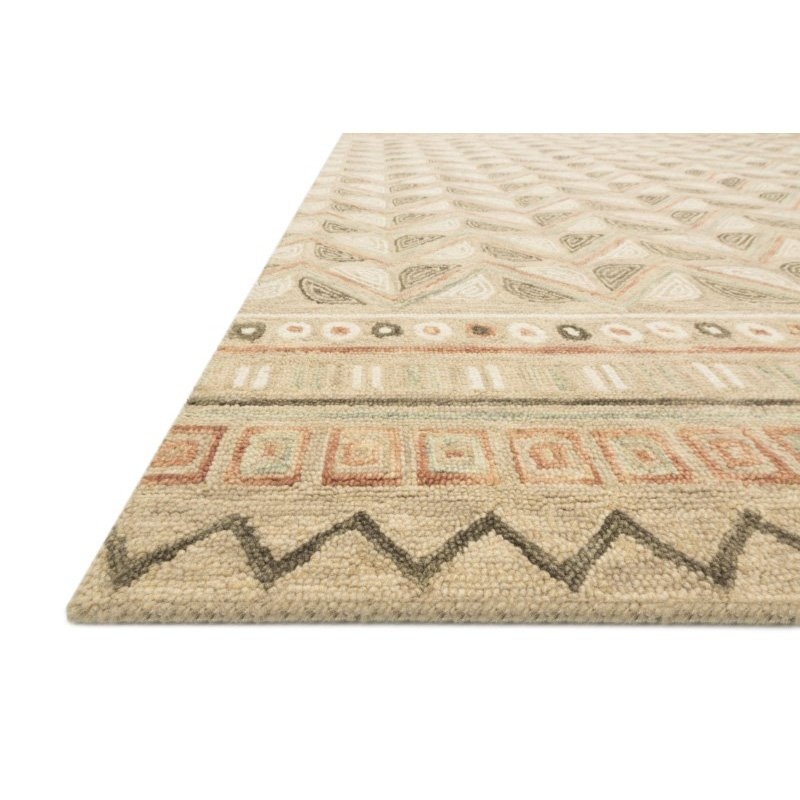 "Loloi x Justina Blakeney Priti PRT-08 Contemporary Hooked 7' 9"" Round Rug in Taupe and Multi (PRITPRT-08TAML790R)"