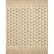"""Loloi x Justina Blakeney Priti PRT-08 Contemporary Hooked 7' 9"""" x 9' 9"""" Rectangle Rug in Taupe and Multi (PRITPRT-08TAML7999)"""
