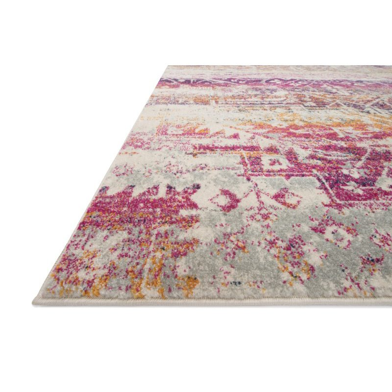 """Loloi Zehla ZL-01 Transitional Runner Rug 2' 7"""" x 10' in Sunset and Ivory (ZEHLZL-01SSIV27A0)"""