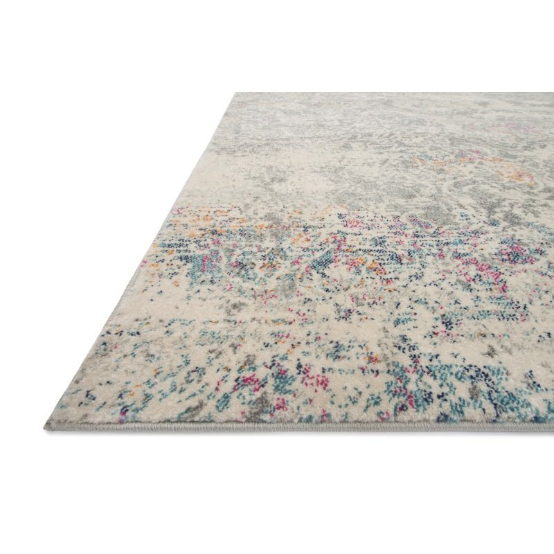 "Loloi Zehla ZL-02 Transitional Rectangle Rug 2' 2"" x 3' 9"" in Grey and Multi (ZEHLZL-02GYML2239)"