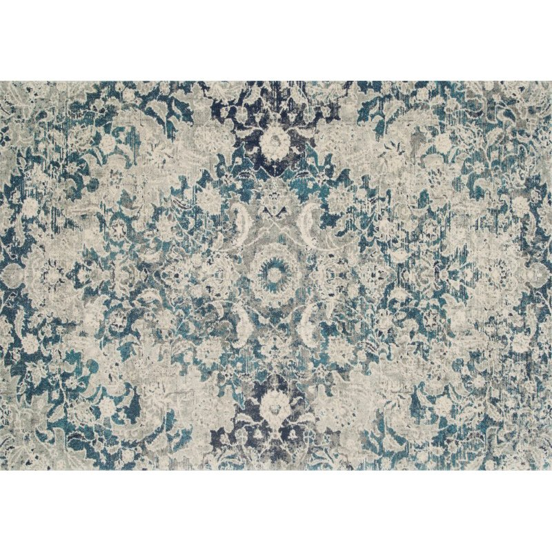 """Loloi Zehla ZL-02 Transitional Rectangle Rug 7' 5"""" x 10' 5"""" in Ocean and Silver (ZEHLZL-02OCSI75A5)"""