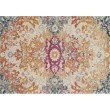 """Loloi Zehla ZL-02 Transitional Square Rug 1' 6"""" x 1' 6"""" in Ivory and Fiesta (ZEHLZL-02IVFD160S)"""