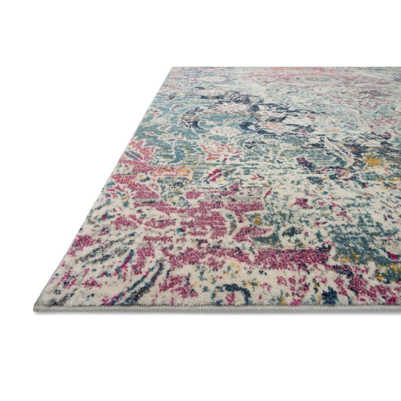 "Loloi Zehla ZL-02 Transitional Square Rug 1' 6"" x 1' 6"" in Mist and Multi (ZEHLZL-02MIML160S)"
