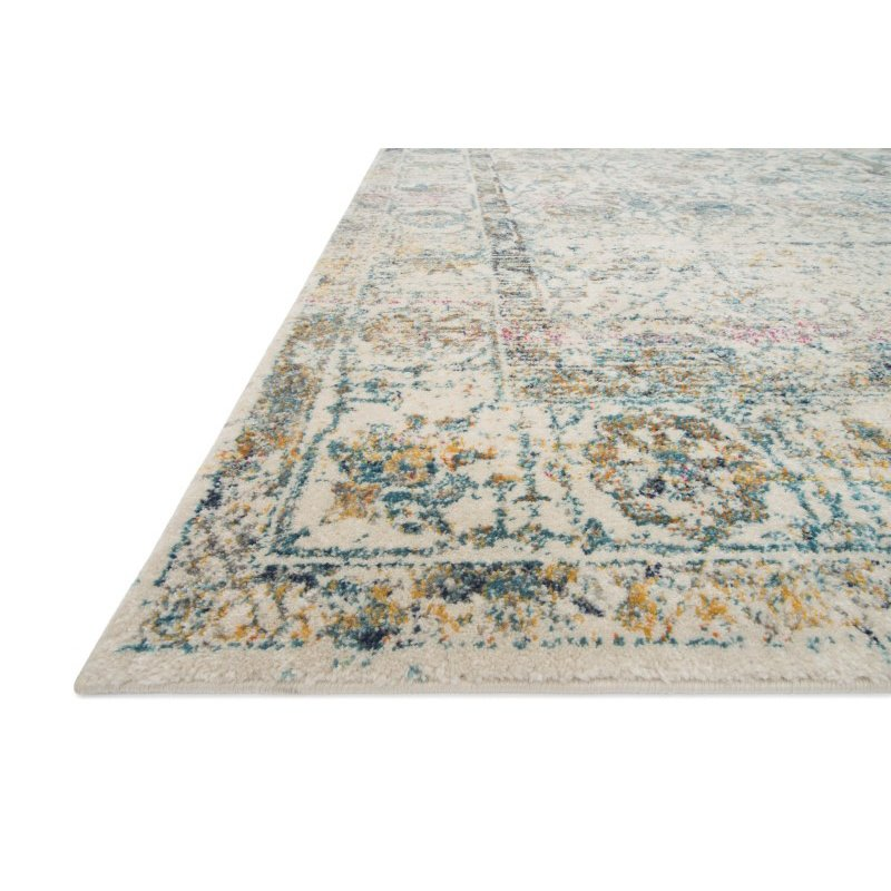 "Loloi Zehla ZL-04 Transitional Rectangle Rug 9' x 12' 2"" in Ivory and Blue (ZEHLZL-04IVBB90C2)"